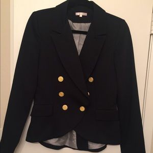 Matty M navy blazer with gold buttons size S
